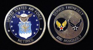 Air Force retired Challenge Coin