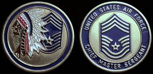 Chief Master Sergeant Gold Challenge Coin