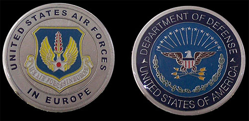 United States Air Force in Europe Challenge Coin