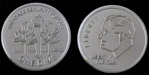 Security forces dime challenge coin