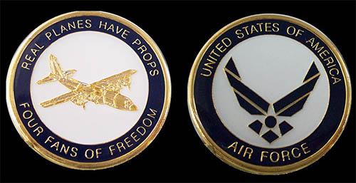 C-130 Gunship Challenge Coin