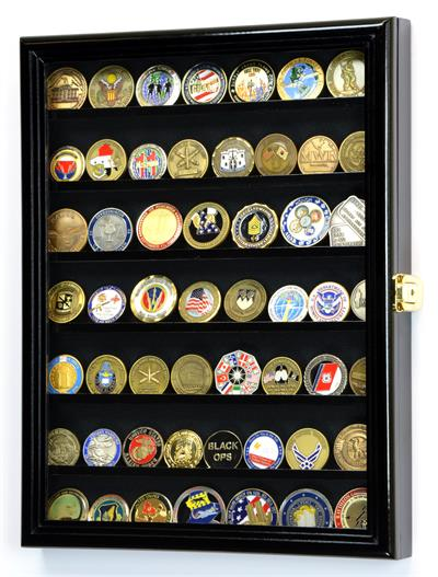Wall Mounted Challenge Coin Display Multiple Sizes And