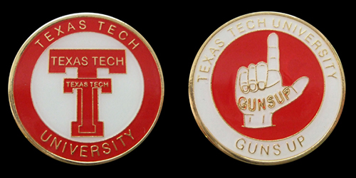 Texas Tech University Guns Up Challenge Coin
